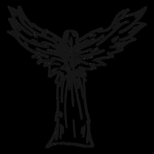 Línea de vista trasera del ángel hembra Transparent PNG