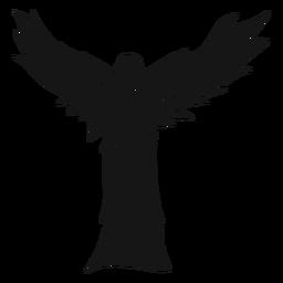 Silueta de mujer vista trasera de angel