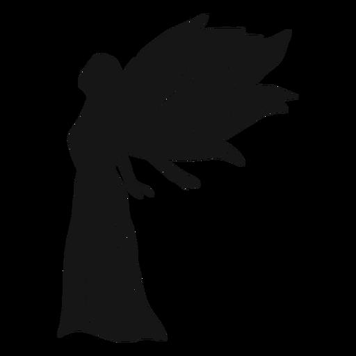 Silhueta de vista lateral de anjo feminino Transparent PNG