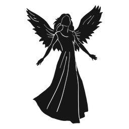 Female angel silhouette