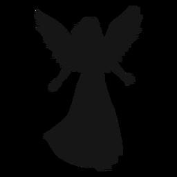 Silhueta de anjo feminino