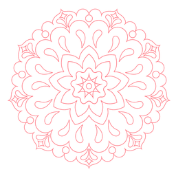 Festival del icono de mandala de colores