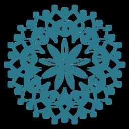 Festival de primavera icono de mandala