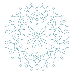 Festival do ícone de mandala de primavera