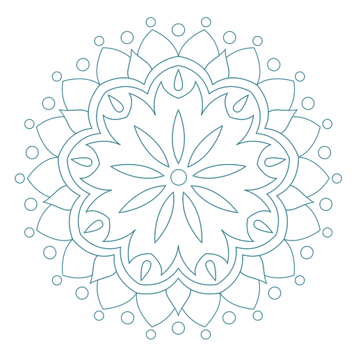 Festival of spring mandala icon Transparent PNG