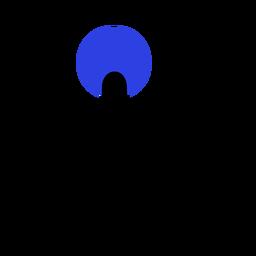 Dedo mano círculo punto trazo