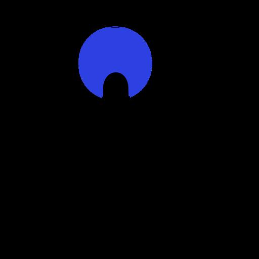 Curso de ponto de círculo de mão de dedo Transparent PNG