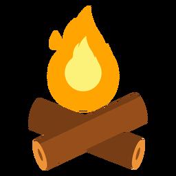 Fire campfire log flat