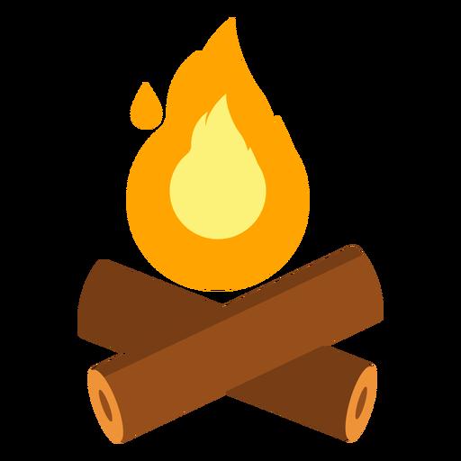 Fire campfire log flat Transparent PNG