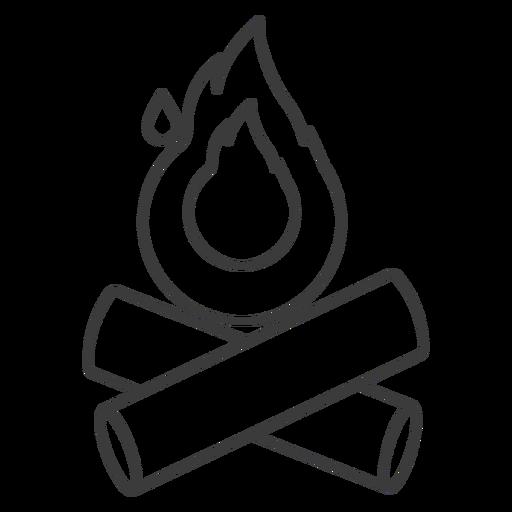 Fire campfire log stroke Transparent PNG