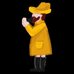 Ilustração de inicialização de casaco de tubo de pescador