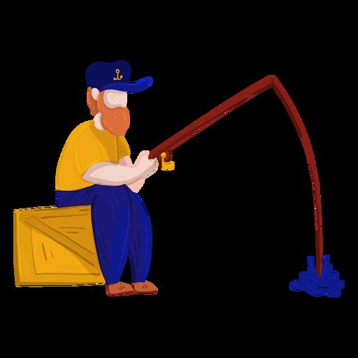 Cuadro pescador caja pesca ilustración Transparent PNG