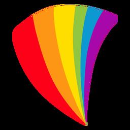 Etiqueta do lgbt do arco-íris do fã da bandeira