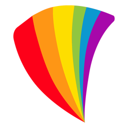 Flag fan rainbow lgbt sticker