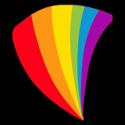 Flag fan rainbow lgbt sticker Transparent PNG