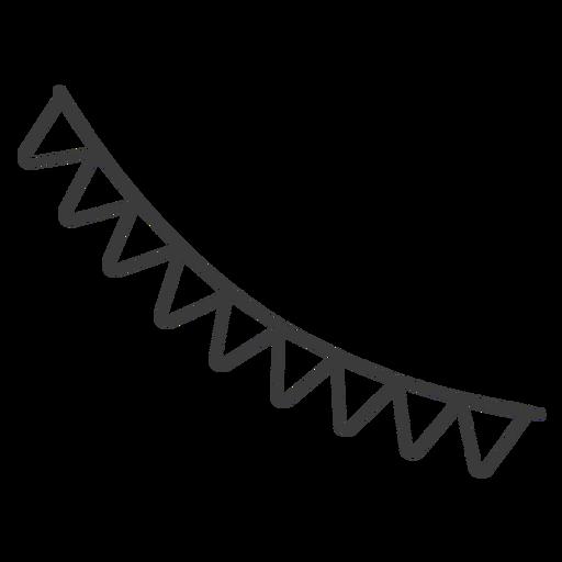 Flag garland string stroke Transparent PNG