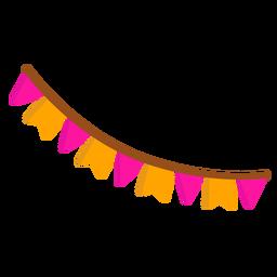 Bandera cadena guirnalda plana