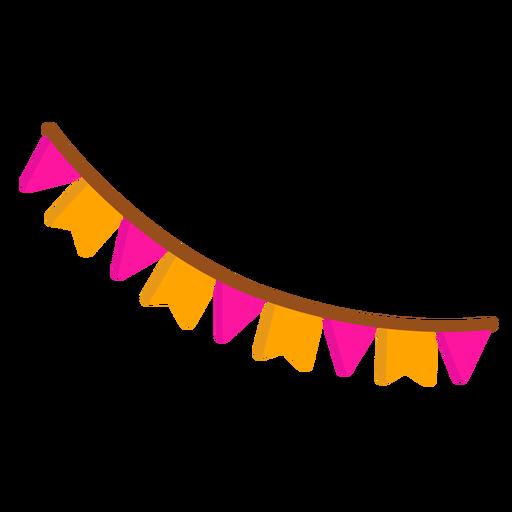 Bandera cadena guirnalda plana Transparent PNG