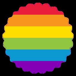 Etiqueta engomada lgbt del arco iris de la insignia de la flor