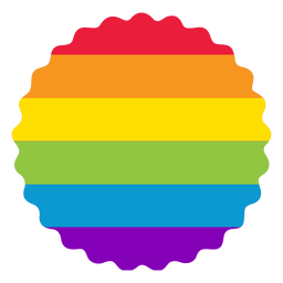 Flower badge rainbow lgbt sticker