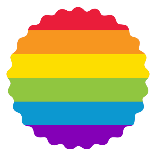Flower badge rainbow lgbt sticker Transparent PNG