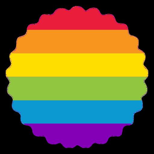 Insignia de flores Rainbow LGBT Transparent PNG