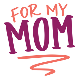 For my mom english text sticker