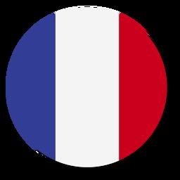 Círculo de icono de idioma de bandera de Francia
