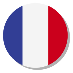 France flag language icon circle