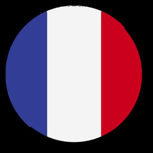 Círculo de icono de idioma de bandera de Francia Transparent PNG