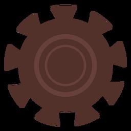 Roda de engrenagem orifício da engrenagem do pinhão da roda dentada plana