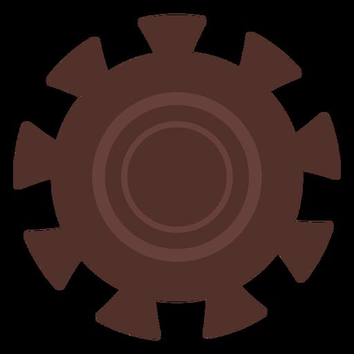 Gear wheel gear hole pinion cogwheel flat Transparent PNG