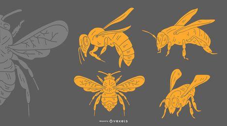 Desenho de abelha amarelo