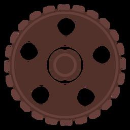 Engranaje rueda dentada piñón orificio plano