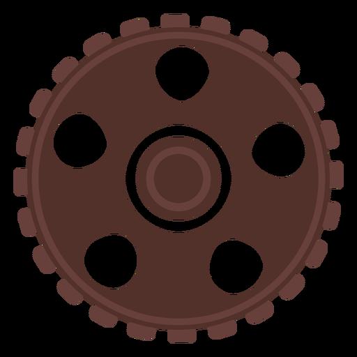 Gear gear wheel cogwheel pinion hole flat Transparent PNG