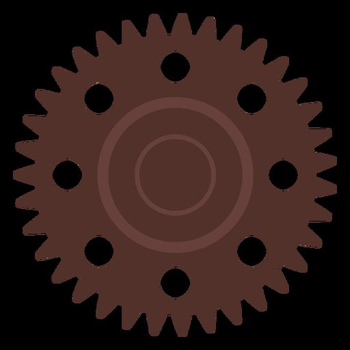 Gear hole cogwheel pinion gear wheel flat Transparent PNG