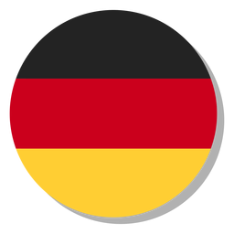 Círculo de ícone de língua de bandeira de Alemanha