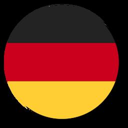 Círculo de icono de idioma de bandera de Alemania