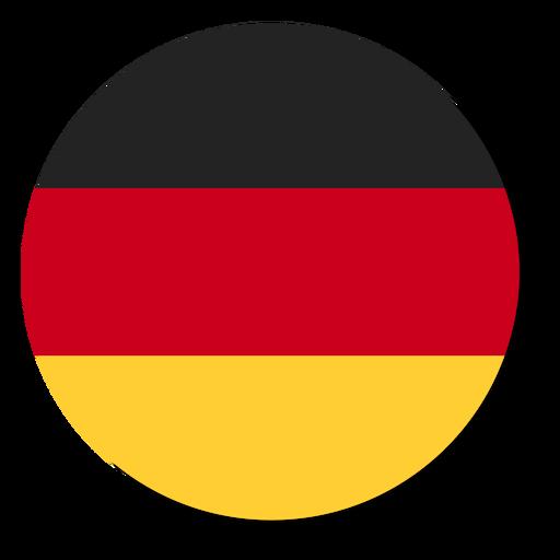 Círculo de icono de idioma de bandera de Alemania Transparent PNG