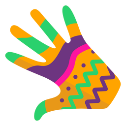 Glove hand finger palm pattern flat