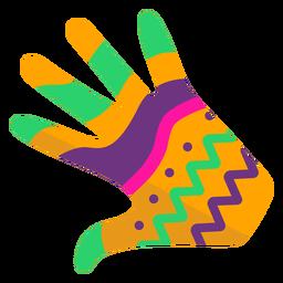Guante mano dedo palma patrón plano