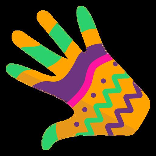 Glove hand finger palm pattern flat Transparent PNG