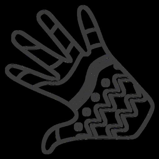 Glove hand finger palm pattern stroke Transparent PNG