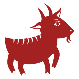 Goat hoof horn chinese astrology silhouette