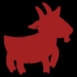Silueta de astrología china de cuerno de pezuña de cabra