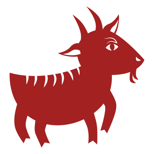 Goat hoof horn chinese astrology silhouette Transparent PNG