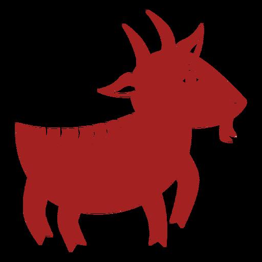 Pezuña de cabra cuerno astrología china silueta