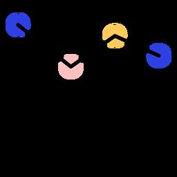 Curso de linha de círculo gráfico