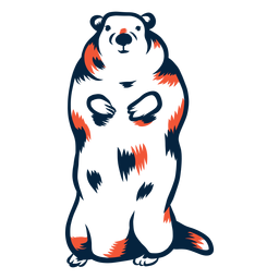 Duotone de pé de marmota