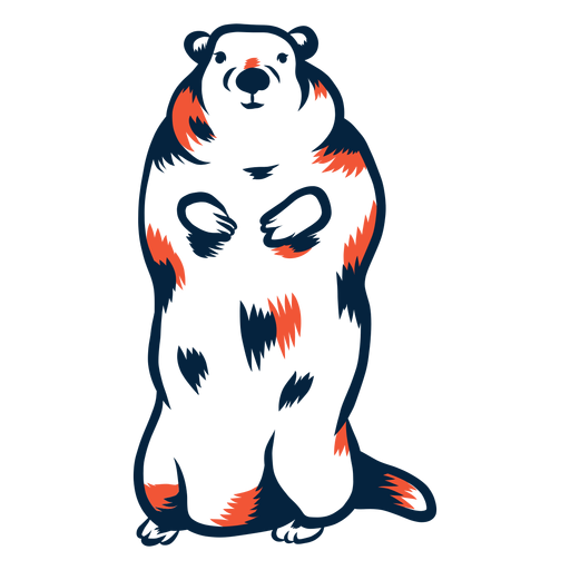 Marmota de pie duotono Transparent PNG